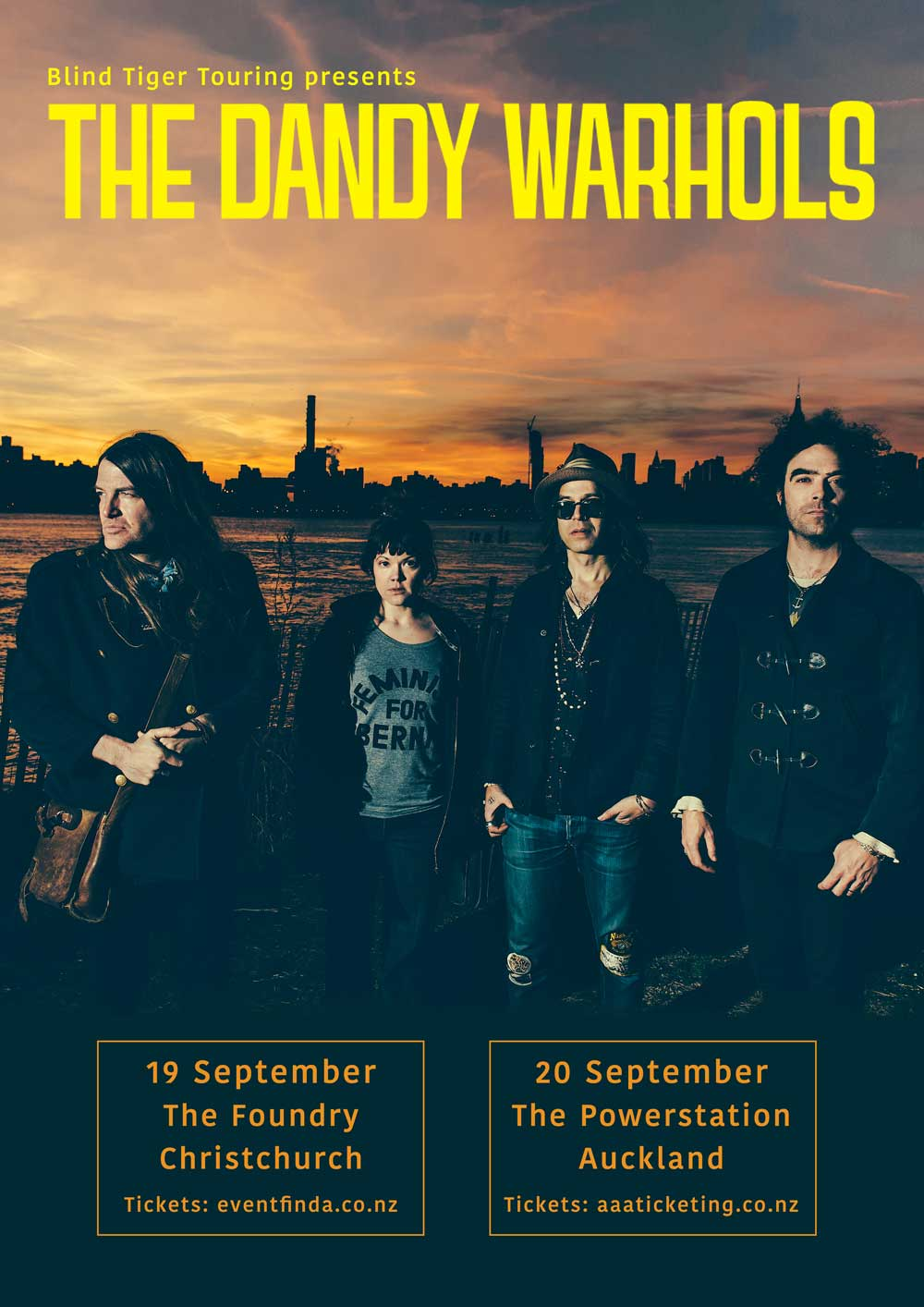 Dandy Warhols NZ Tour Poster 2017