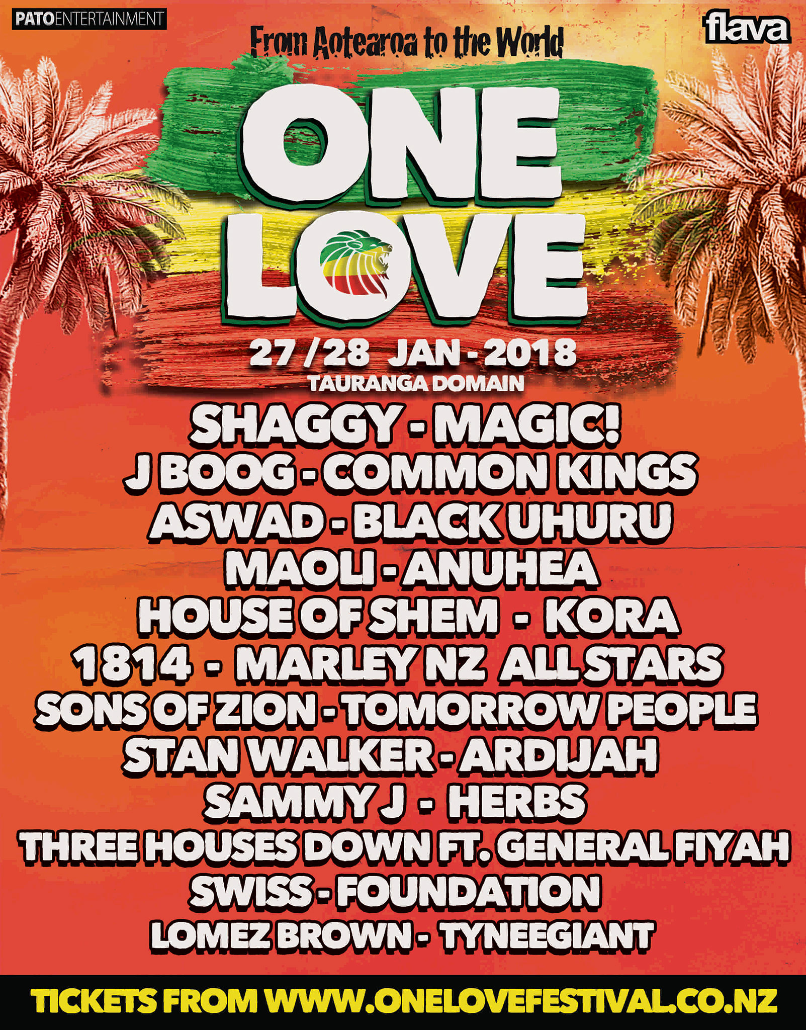 One Love 2018 Tour Poster