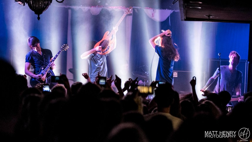 Mayday Parade performing live in Auckland, New Zealand 2017. Image by Matt Henry Photography.