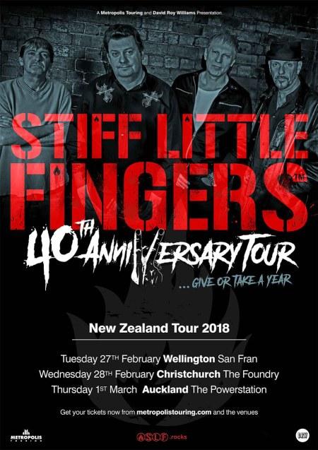Stiff Little Fingers Tour Poster