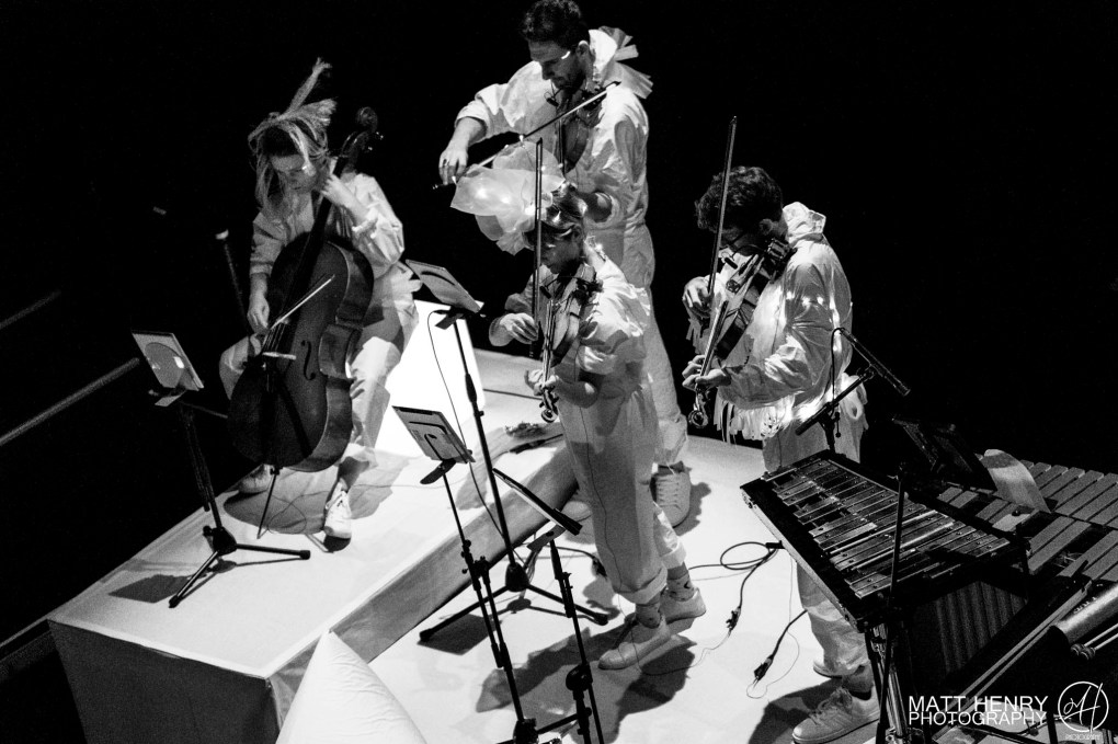 Blackbird Ensemble perform Björk: All Is Full Of Love at Q Theatre, Auckland New Zealand, 2017. Image by Matt Henry Photography.