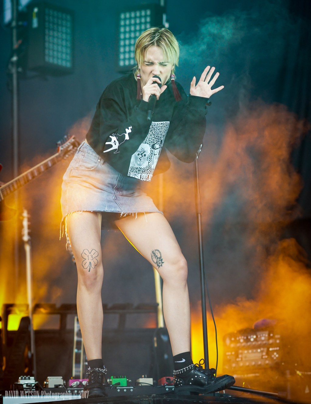 MØ performing live in Auckland, New Zealand, 2017. Image By David Watson.