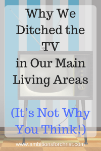 Why We Ditched the Tv In our Main Living Area