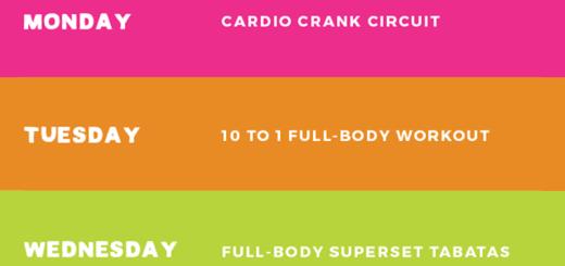 Summer Sweat Series Fitness Plan Week 6 Ambitious Kitche
