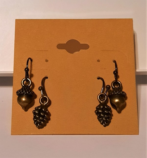 Bronze Pine Cones and Acorns