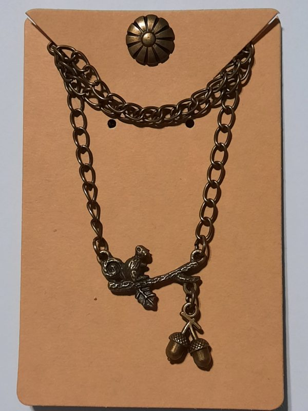 Bronze Squirrel Necklace