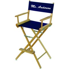 Customized Directors Chair Accent With Wood Arms Personalized For Teacher Custom Chairs