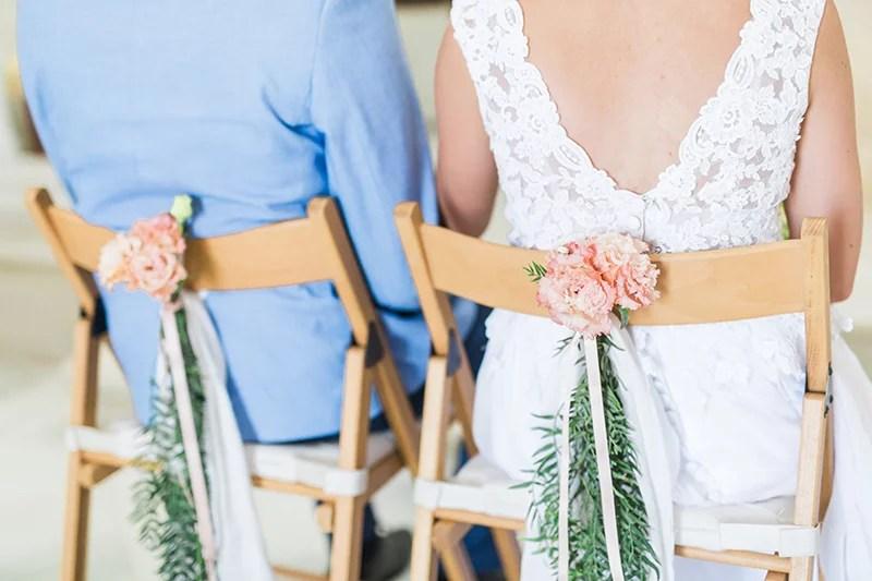 Stuhldeko für die Hochzeit