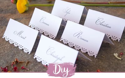 DIY Namenskarten mit Zierrand selber machen