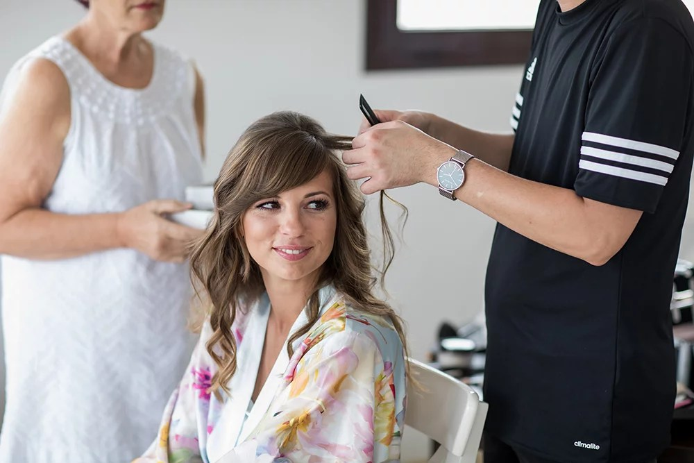 Heiraten im Ausland Getting ready der Braut, Brautstyling