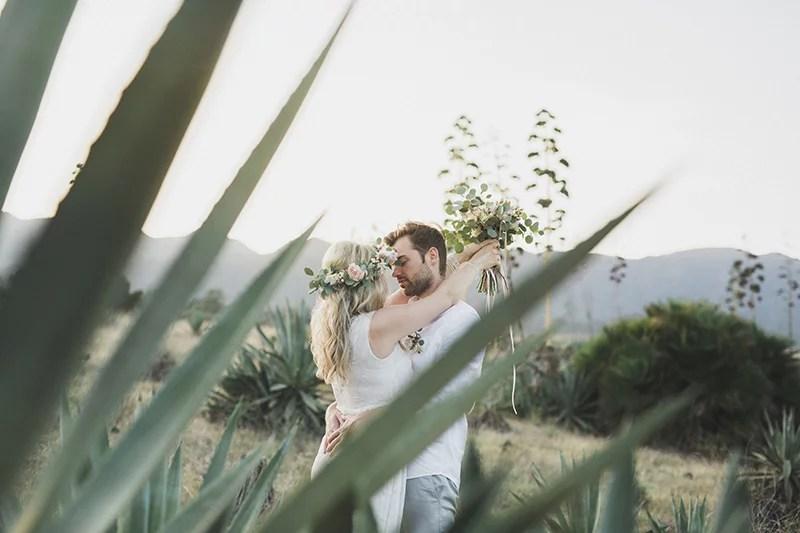 Boho Brautpaar in Cabo de Gata