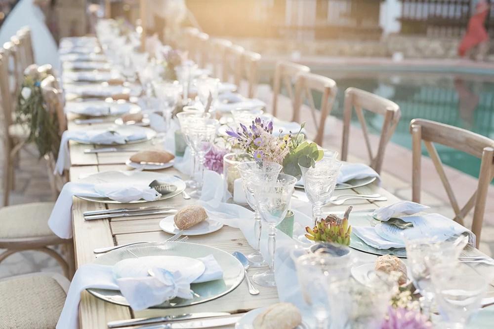 Tischdeko Ideen für lange Tafeln Ambrosia Wedding
