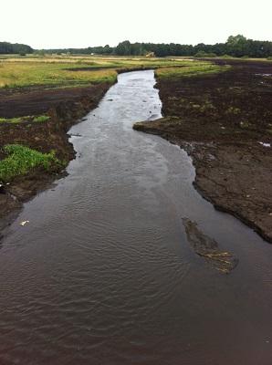 Oostervoortsche Diep op een wandeling over het Drenthepad van Norg naar Roden