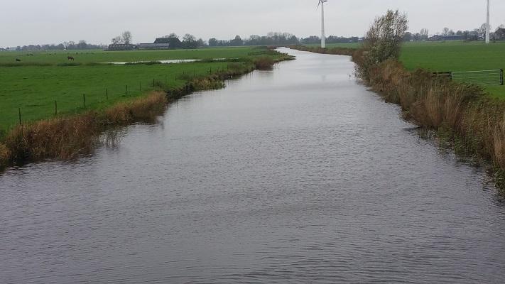 Aldtsjerker Vaart naar Barthlehiem op wandeling over Elfstedenpad van Oentsjerk naar Leeuwarden