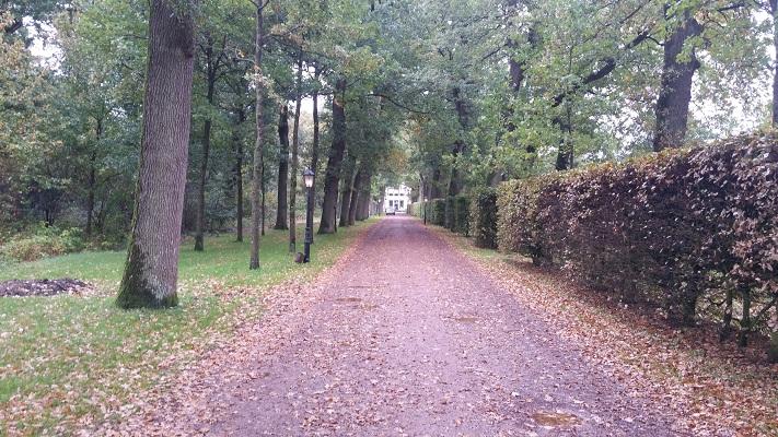Landgoed De Klinze bij Aldtsjerk op wandeling over Elfstedenpad van Oentsjerk naar Leeuwarden