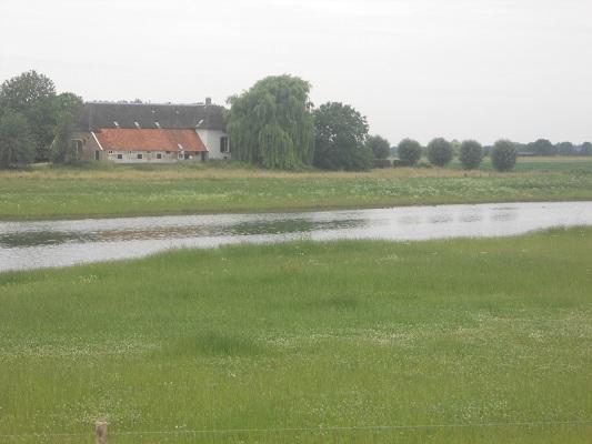 Wandelen over het Hanzestedenpad bij de IJssel in de Voorsterklei