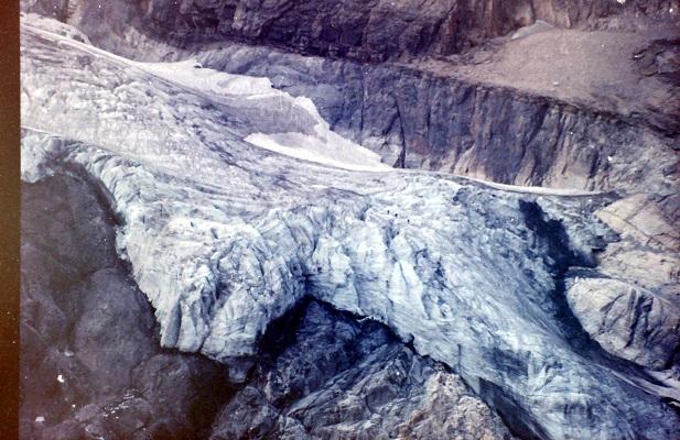 Gletscher op wandreis in Nationaal Park La Vanoise in Frankrijk