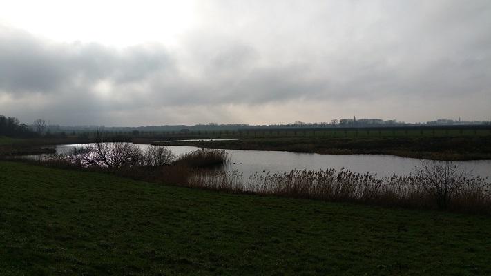 Harten Aas tijdens wandeling over het Maaspad van Heusden naar Waalwijk