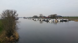 Haven Waspik tijdens een wandeling over het Maaspad van Waspik naar Waalwijk