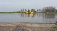 Veerpont Waalwijk-Dussen tijdens een wandeling over het Maaspad van Waspik naar Waalwijk