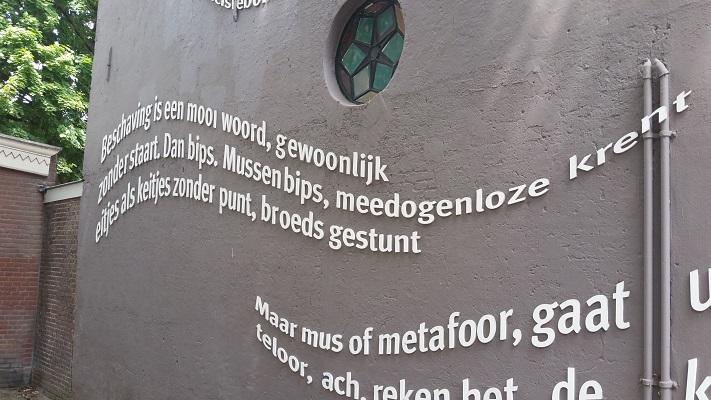 Wandelen over het Marikenpad bij tekst in Tilburg