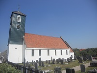 Kerk Callantsoog op een wandeling over het Nederlands Kustpad van Bergen aan Zee naar Callantsoog