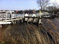 Vlotbrug op een wandeling over het Nederlands Kustpad van Callantsoog naar Anna Paulowna