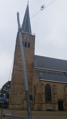 Kerk Franeker op een wandeling over het Nederlands Kustpad van Franeker naar Harlingen