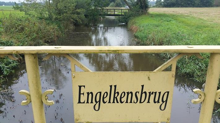 Engelkensbrug op een wandeling over het Noaberpad van Weddermeer naar Ter Wupping