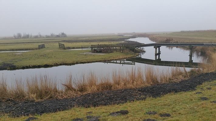 Eilandspolder tijdens wandeling van Schermerhorn naar Krommenie over het Noord-Hollandpad