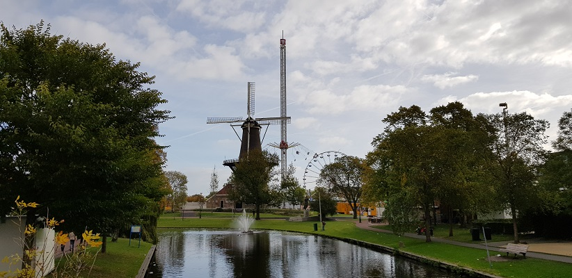 Wandelen over het Romeinse Limespad bij molen de Valk in Leiden