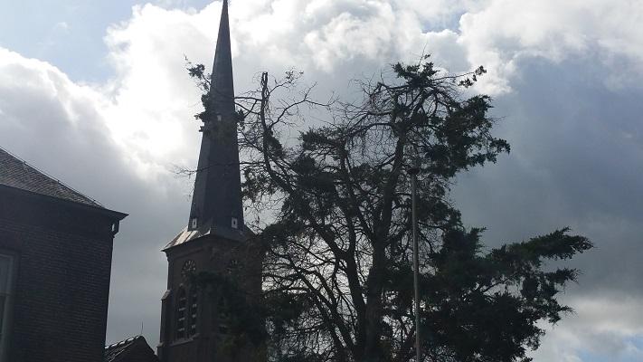 Kerk Liempde tijdens een wandeling van Liempde naar Schijndel over het Roots Natuurpad