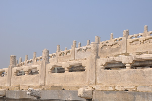Detail tijdens stadswandeling in Xian China