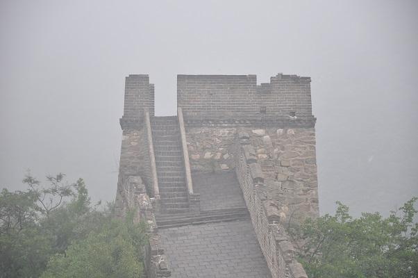 Wachttoren tijdens een wandeling over de Chinese Muur in China