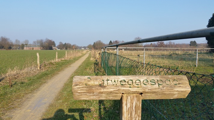 Gratweggespad tijdens wijnwandeling van Wanda Catsman in Groesbeek