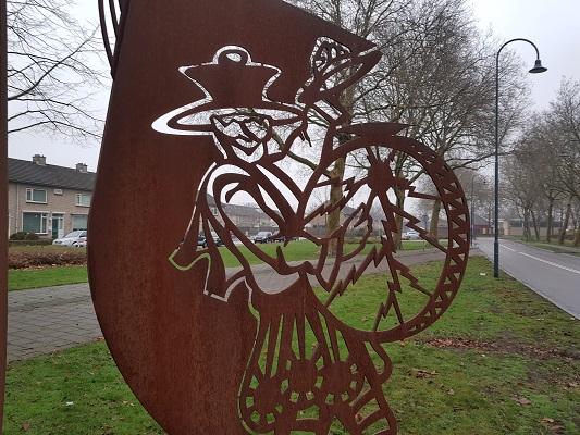 Kunstwerk de Muzikanten in Helmond-Noord tijdens een wandeling Ontdek de Kunst van Brabant Vertelt