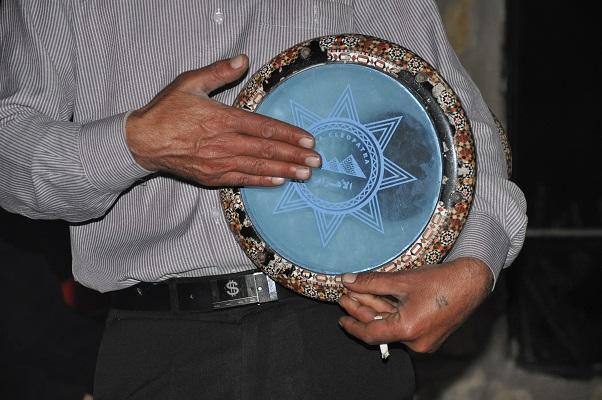 Trommelaar in natuurreservaat Dana Natuurreseraat Dana tijdens een wandelreis van SNP door Jordanië