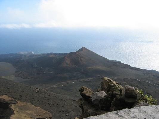 Landschap op Zuid Palma tijdens een wandelvakantie op Canarisch eiland La Palma