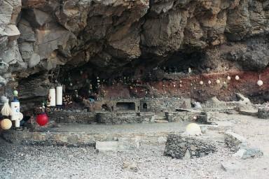 Herdenkingsplek bij Femes tijdens een wandelvakantie op Canarisch Eiland Lanzarote