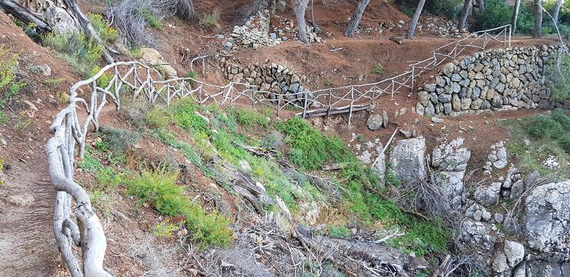 Wandelpad tussen Deia en Port de Soller op wandelvakantie in Tramuntanagebergte op Spaans eiland Mallorca