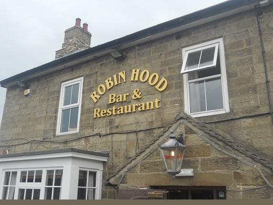 Robin Hood Restaurant op een wandeling van Wallsend naar Heddon on Wall op een wandelreis over de Muur van Hadrianus in Engeland