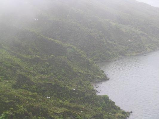 Lagoa de Fogo bij Aqua de Alto Modderbaden bij Ribeira Grande tijdens een wandelvakantie op de Azoren, op eiland Sao Miguel