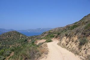 Wandelweg op wandelvakantie op Grieks eiland Zakynthos