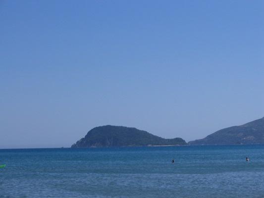 Baai van Kalamaki tijdens wandelvakantie op Grieks eiland Zakynthos