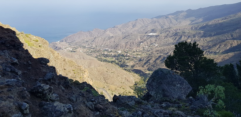 Wandeling op La Gomera van Arure naar Alojera langs duizelingwekkende afgronden aan de noordkust