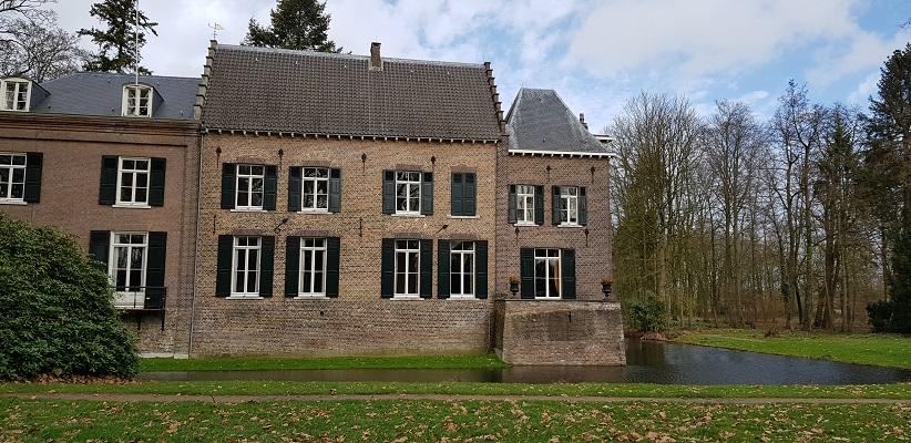 Wandelen over Rielsepad van Eindhoven naar Geldrop bij kasteel Geldrop