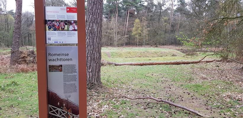 Wandelen met de Wandelapp van Vitens in Heumensoord bij voormalige Romeinse wachttoren