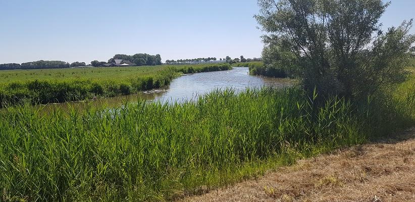 Wandeling van Ferwerd naar Dokkum over het Elfstedenpad langs de Dokkumer Ee