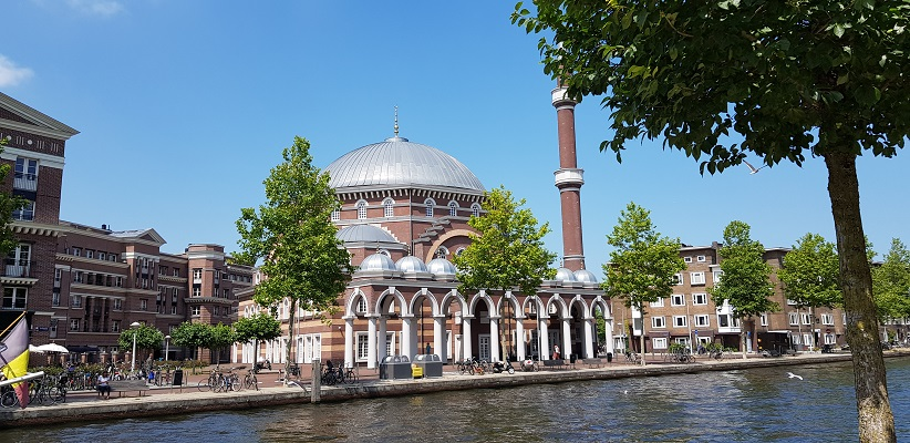 Wandeling door de binnenstad van Amsterdam in Oud-West bij Moskee