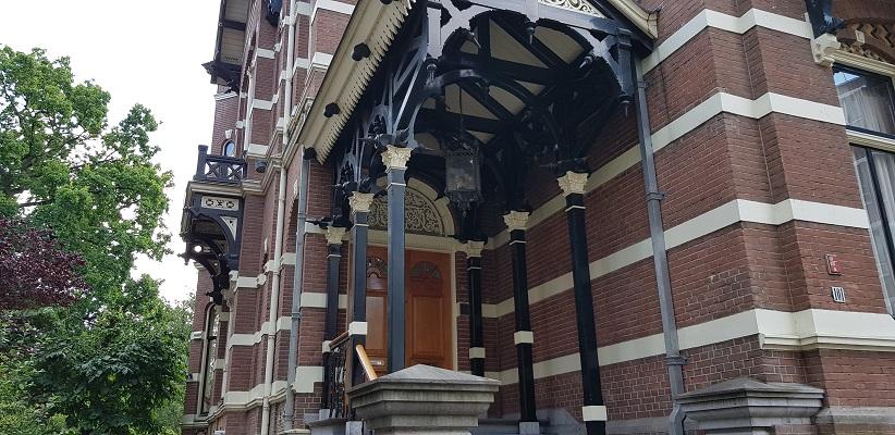 Wandeling door de binnenstad van Amsterdam in Oud-West in Vondelstraat
